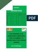 Tarjetas de Andamio Roja-Verde