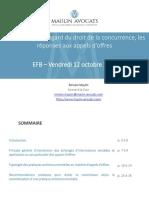 Cours EFB Du 12 Octobre 2018 - Appels d'Offres Et Droit de La Concurrence - Version Finale