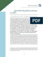 Cartagena libre de pobreza extrema en 2033