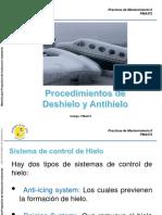 Procedimientos de Deshielo y Antihielo en Aviación.