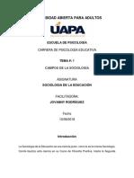 TAREA # 1 Sociologia Educación