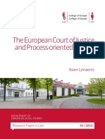 Lenaerts - The European Court of Justice and Process-Oriented Review