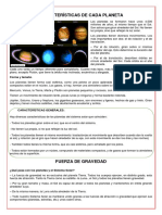 Características de Cada Planeta