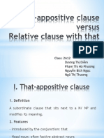 That Appositive Clause