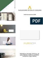 201810 Climastar Tarifa de Precios 2018