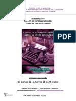 Teatro de La Sensacion Taller de Experimentación Sobre El Guion Literario-octubre- 018