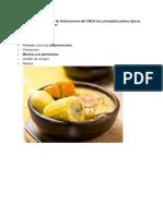 Según Publicaciones de Gastronomía Del CNCA Los Principales Platos Típicos de Los Chilenos