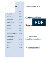 August 2018 Current Affairs in English Tnpscportal in Final