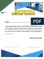 Certificado Excel