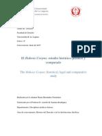 El Habeas Corpus. Derecho Fundamental y Garantía Constitucional