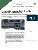 Sears está a un paso de declararse en bancarrota SCJM