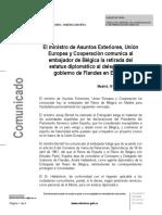 El govern espanyol retira l'estatus diplomàtic al delegat de Flandes