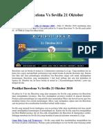 Prediksi Barcelona vs Sevilla 21 Oktober 2018