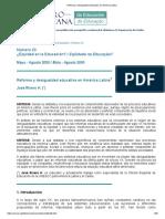 Reforma y Desigualdad Educativa en América Latina OEI Arituclo