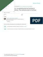 Cuadernos Salmantinos de Filosofa 2000 Volumen 27 Pginas 243 277 Alteridad e Infinito La Substitucin en Levinas