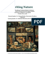 writing nature - ucla french graduate conference 2018