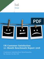 UK Customer Satisfaction 12-Month Benchmark Report 2018