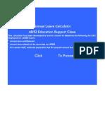 Annual Leave Calc