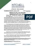 MI 10-18 MI Chamber Statewide MI Poll Press Release 10-10-18 PRESS
