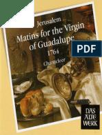 Ignacio de Jerusalem - Maitins for the Virgin of Guadalupe 1761