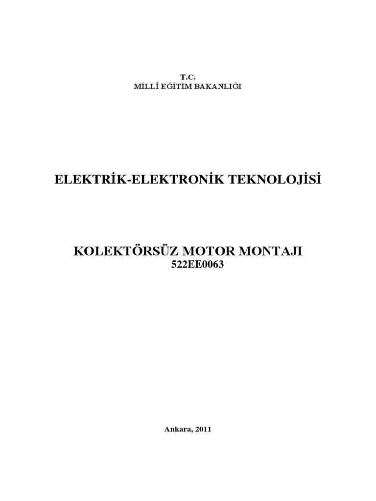 Kolektörsüz Motor Montajı PDF