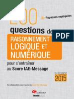 200 Questions de Raisonnement Logique Et Numerique