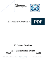 Electrical Circuits Analysis