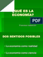 La Economia Como Realidad Cientifica