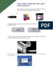 PROCEDIMIENTO PARA CONECTAR UNA USB Y COPIAR ARCHIVOS EN ELLA