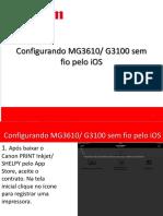 Manual Canon Print MG3610 G3100 IOS