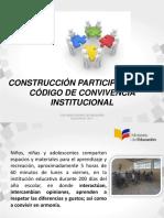 Construcción Participativa Del Código de Convivencia 2018 2019