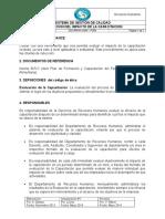 Rrhh- Ggm - p009 Evaluacion de La Capacitacion