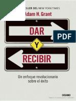 Dar y Recibir (Adam h. Grant)