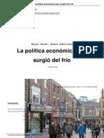 La PolíTica Económica Que Surgió Del Frío