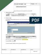 EY02001002 - Liberar presupuesto