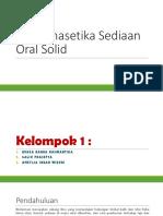 Biofarmasetika Sediaan Oral Solid