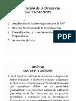 4.1 Calificación de La Denuncia