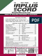 NOVEMBER 2018 Surplus Record Machinery & Equipment Directory