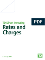 TD Share Dealing - Rates and Charges UK