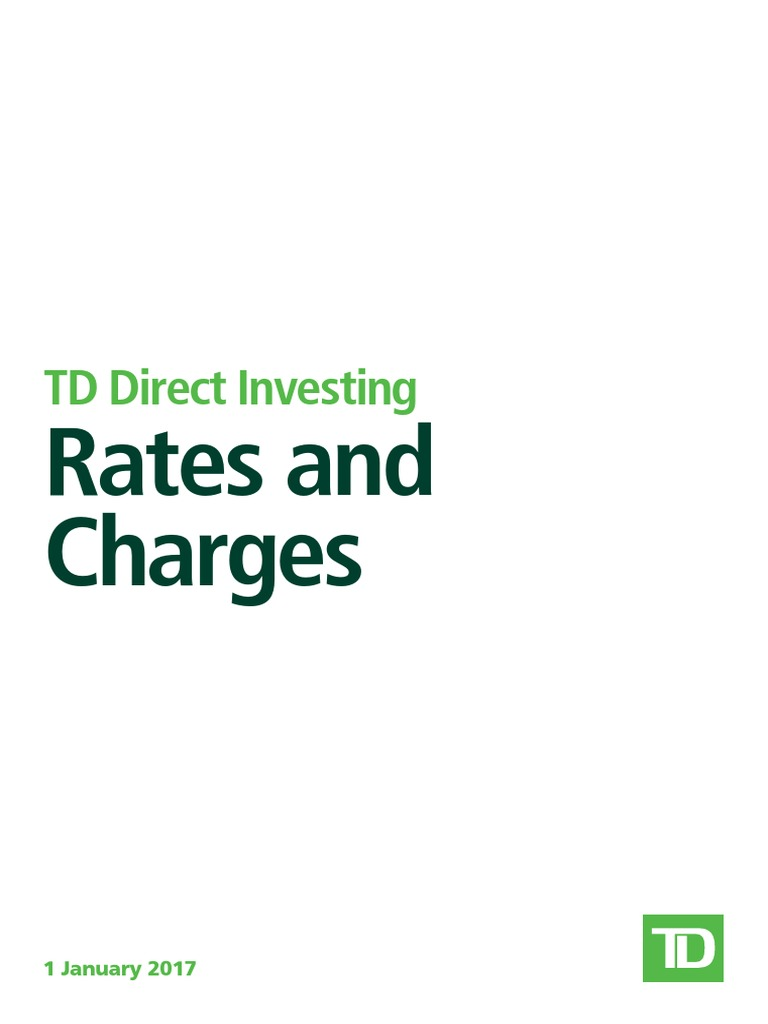 TD Share Dealing - Rates and Charges UK | Value Added Tax