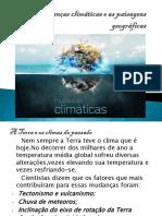 Slide;as mudanças climáticas e as paisagens Geográficas.pptx