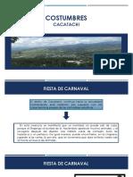 COSTUMBRES CACATACHI - URBANISMO