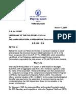Landbank Versus Philagro