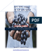 Don't You Dare Give Up on God (Book Preview)