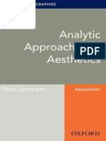 Peter Lamarque - Analytic Approaches to Aesthetics