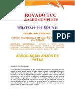 Anhanguera Gestão Pública 3 e 4 Associação Anjos de Patas