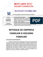 Unopar Rh 3 e 4 Semestre Retoque de Empresa Familiar à Holding Familiar