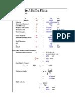 Weir Plate or Baffle Plate Calculation