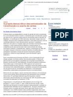 ConJur - Onofre Júnior_ O Projeto Democrático-Descentralizador Da Constituição