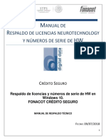 Manual de Respaldo de Licencias y Serial Number